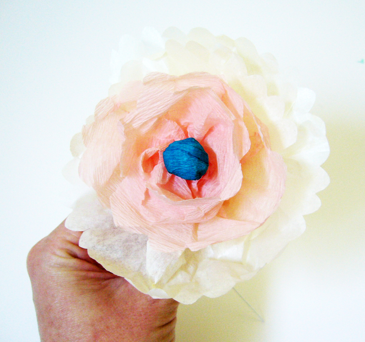 Diy Paper Flowers Tutorial Hollyhocklaneshop